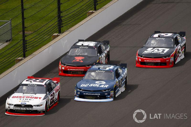 Joey Logano, Team Penske Ford, Brennan Poole, Chip Ganassi Racing Chevrolet