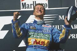 Podium: race winner Michael Schumacher, Benetton B194 Ford