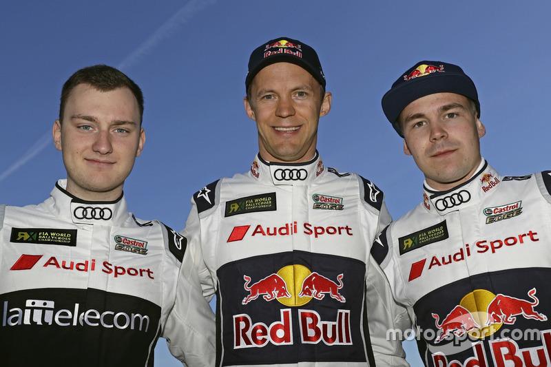 Reinis Nitiss, EKS, Mattias Ekström, Toomas Heikkinen, EKS, Audi S1 EKS RX Quattro