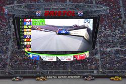 Kyle Busch, Joe Gibbs Racing Toyota, Matt Kenseth, Joe Gibbs Racing Toyota, Denny Hamlin, Joe Gibbs Racing Toyota, Joey Logano, Team Penske Ford