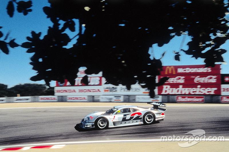 #1 AMG Mercedes-Benz CLK-LM: Bernd Schneider, Mark Webber
