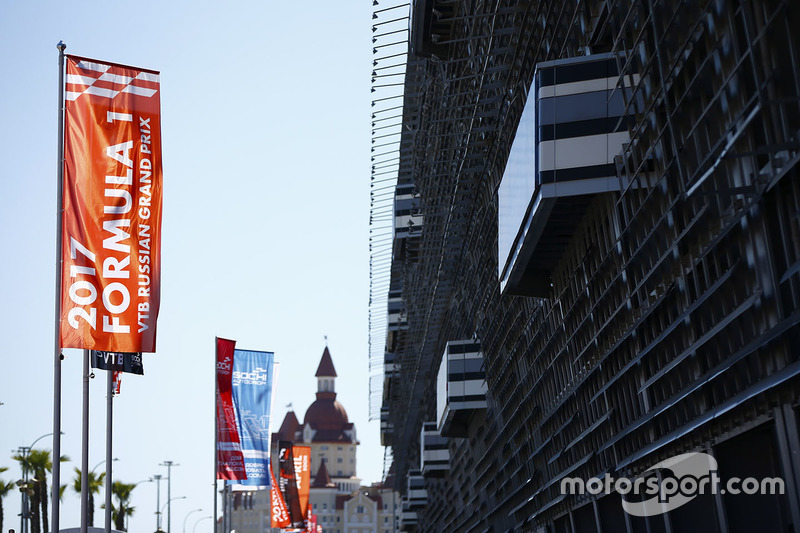 A scenic view of the Sochi Autodrom