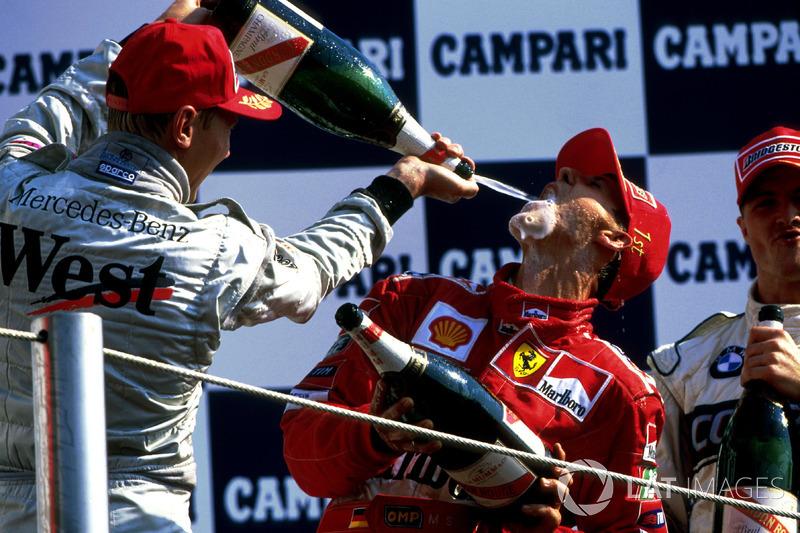 Na Itália foi segundo, atrás de Schumacher