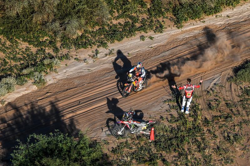 #20 Monster Energy Honda Team Honda: Ricky Brabec, #2 Red Bull KTM Factory Racing KTM: Matthias Walkner