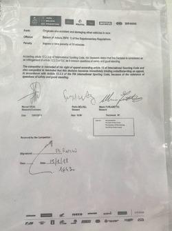 Penalización a Carlos Sainz
