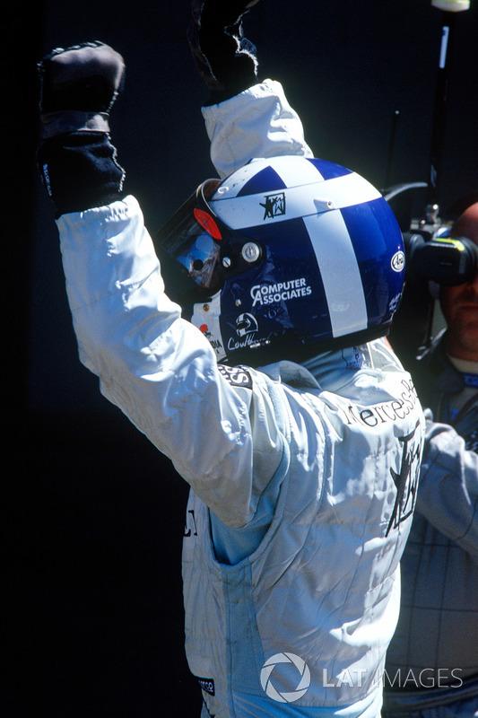 Il vincitore David Coulthard, McLaren