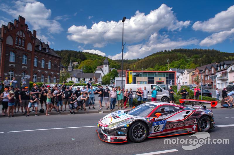 #22 Wochenspiegel Team Monschau Ferrari 488 GT3: Georg Weiss, Oliver Kainz, Jochen Krumbach, Christian Menzel