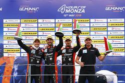 LMP2 Podyum: Yarış galibi #26 G-Drive Racing Oreca 07 - Gibson: Roman Rusinov, Andrea Pizzitola, Jean Eric Vergne