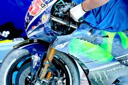 Bike von Maverick Viñales, Yamaha Factory Racing, nach Sturz