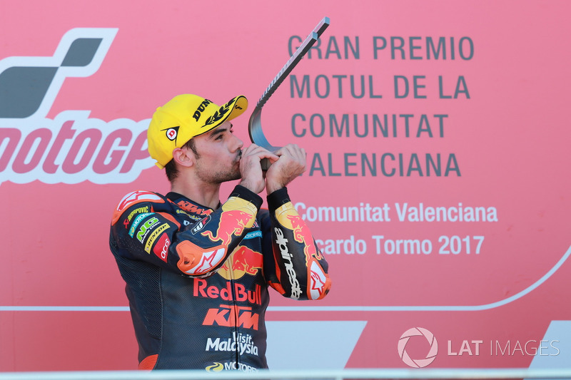 Podium: Race winner Miguel Oliveira, Red Bull KTM Ajo