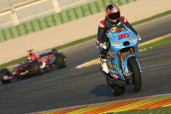 Vitantonio Liuzzi, Team Suzuki MotoGP and John Hopkins, Toro Rosso