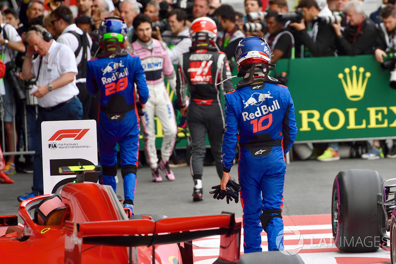 Kevin Magnussen, Haas F1, Brendon Hartley, Scuderia Toro Rosso, Pierre Gasly, Scuderia Toro Rosso