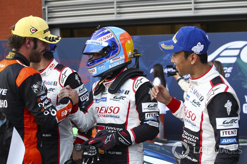 Ganadores, Fernando Alonso, Kazuki Nakajima, Sébastien Buemi, Toyota Gazoo Racing, Jean-Eric Vergne