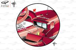 Ferrari SF71H visszapillantók, Monacói Nagydíj