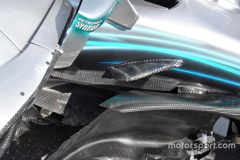 Mercedes AMG F1 W09 detalle