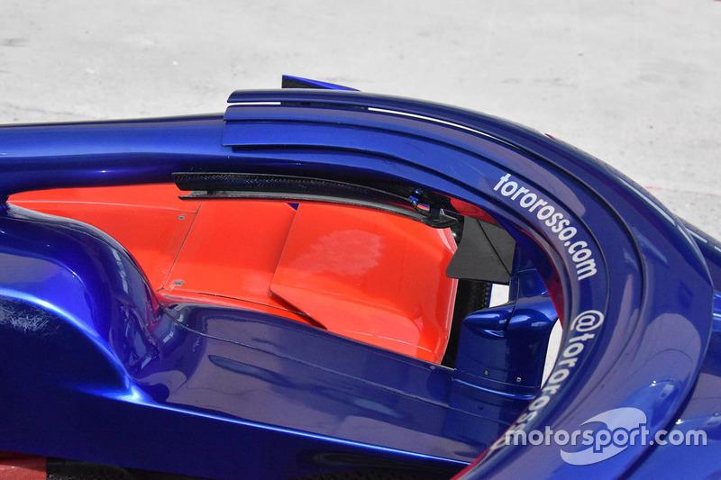 Detalle del Halo del Toro Rosso STR13