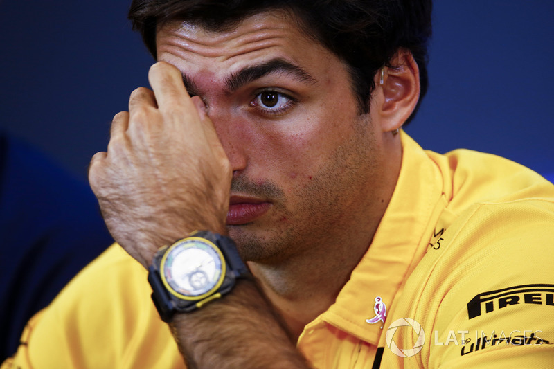 Carlos Sainz Jr., Renault Sport F1 Team, in the press conference