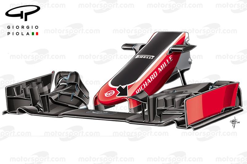 Haas F1: Frontflügel