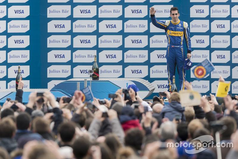 Podium: third place Sébastien Buemi, Renault e.Dams