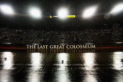 Rain falls at Bristol Motor Speedway