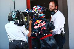 Race winner Max Verstappen, Red Bull Racing celebrates in parc ferme with team mate Daniel Ricciardo, Red Bull Racing