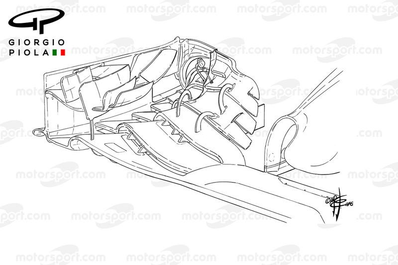 McLaren MP4/31 front wing, Barcelona
