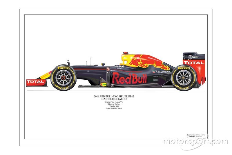 Artwork Red Bull RB12 2016 de Daniel Ricciardo