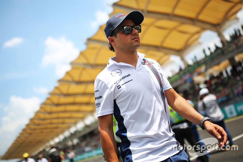 Felipe Massa, Williams on the drivers parade
