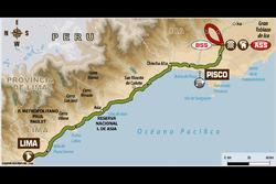 Mappa Stage 1: Lima - Pisco