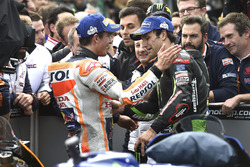 Ganador de la carrera Marc Márquez, Repsol Honda Team, Johann Zarco, Monster Yamaha Tech 3,