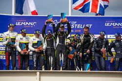 Podium: ganador #15 RLR Msport Ligier JS P3 - Nissan: John Farano, Job Van Uitert, Robert Garofall, segundo #17 Ultimate Ligier JS P3 - Nissan: Matthieu Lahaye, Jean Baptiste Lahaye, François Heriau, tercero #11 Eurointernational Ligier JS P3 - Nissan: Giorgio Mondini, Kay Van Berlo