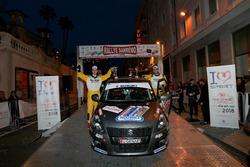 I vincitori Giorgio Cogni, Gabriele Zanni, Suzuki Swift Sport 1600 R/R1B, Meteco Corse