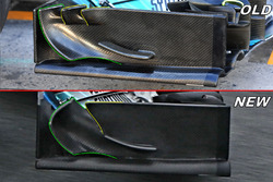 Mercedes F1 W09 detail front wing