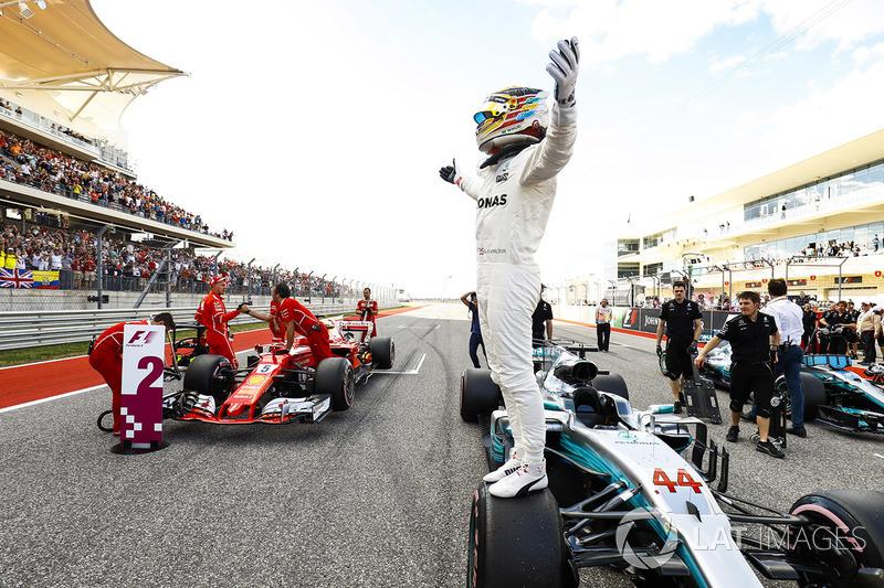 Il poleman Lewis Hamilton, Mercedes AMG F1 W08