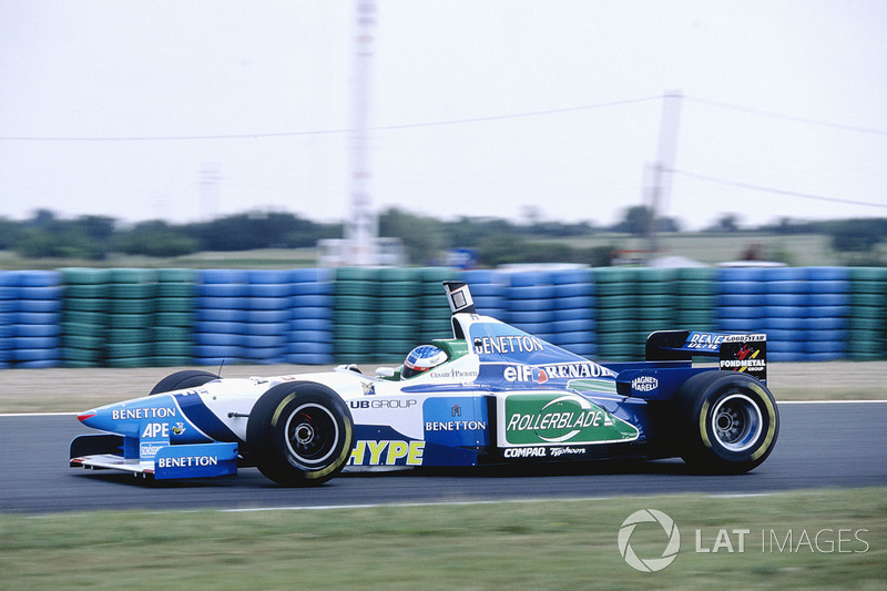 jean alesi benetton b196 grand prix de france photos formule 1. Black Bedroom Furniture Sets. Home Design Ideas