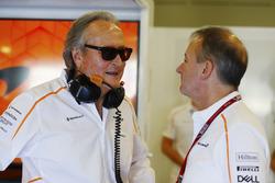 Mansour Ojjeh, co-owner, McLaren, and Jonathan Neale, Managing Director, McLaren
