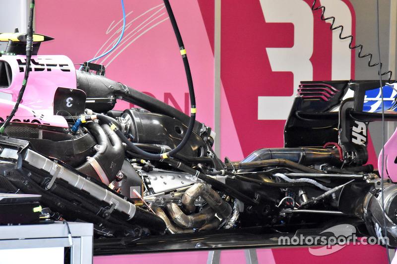 Force India VJM11, feltárul a hajtáslánc