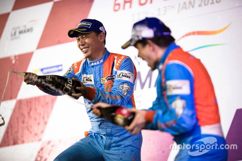 Podium LMP3: third place #1 WIN Motorsport Ligier JS P3: William Lok