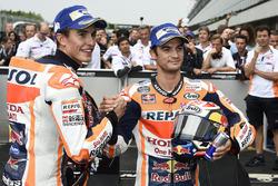Race winner Marc Marquez, Repsol Honda Team, Second place Dani Pedrosa, Repsol Honda Team