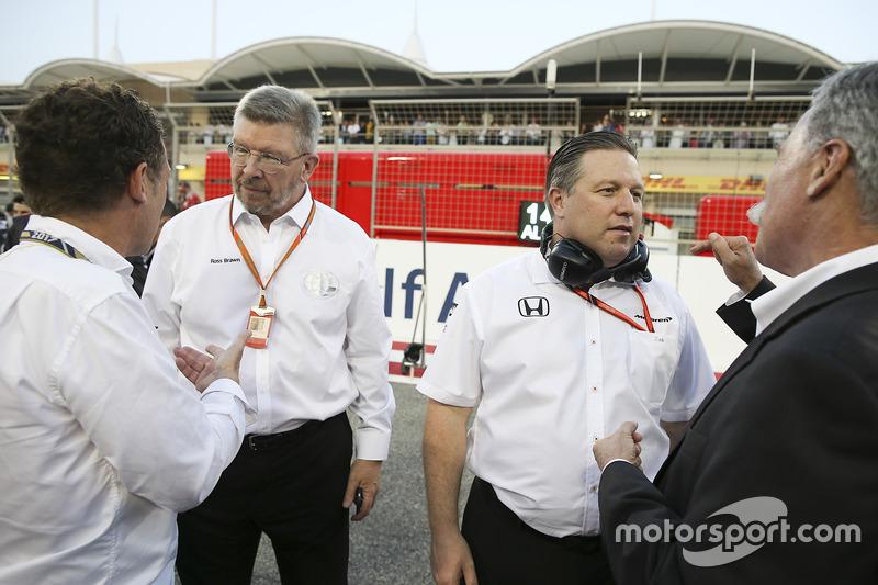 روس براون، المدير العام الرياضي للفورمولا واحد وزاك براون، الرئيس التنفيذى لمجموعة مكلارين