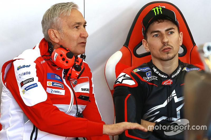 Davide Tardozzi, Ducati Team, Teamchef; Jorge Lorenzo, Ducati Team
