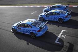 Nicky Catsburg, Thed Björk, Nestor Girolami, Polestar Cyan Racing, Volvo S60 Polestar pendant le MAC3