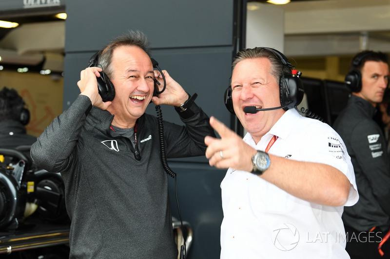 Jonathan Neale, McLaren-Geschäftsführer, Zak Brown, McLaren-Chef