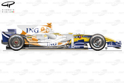 Renault R28 2008 side view