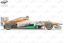 Force India VJM05 side view