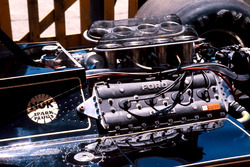 The Ford Cosworth DFV engine on the back of a Lotus