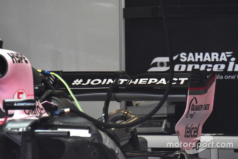 Alerón trasero del Force India VJM10