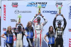 Podium: race winner Anthony Martin, Cape Motorsports, second place Victor Franzoni, Juncos Racing, third place T.J. Fischer, Team Pelfrey