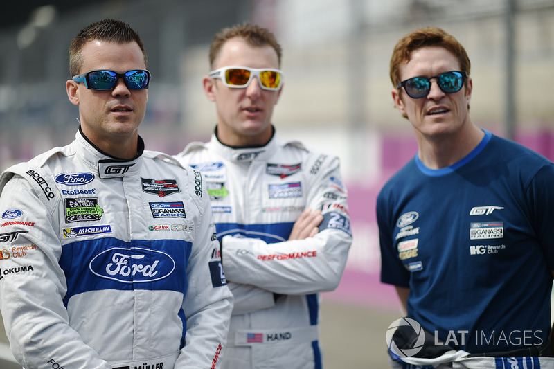 Dirk Müller, Joey Hand, Scott Dixon, Ford Chip Ganassi Racing
