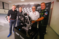 Paul Stroud, Chief Commercial Officer for Triumph Motorcycles, Trevor Morris, Technical Director from ExternPro, Carmelo Ezpeleta, Chief Executive Officer of Dorna, Herve Poncharal, President of IRTA